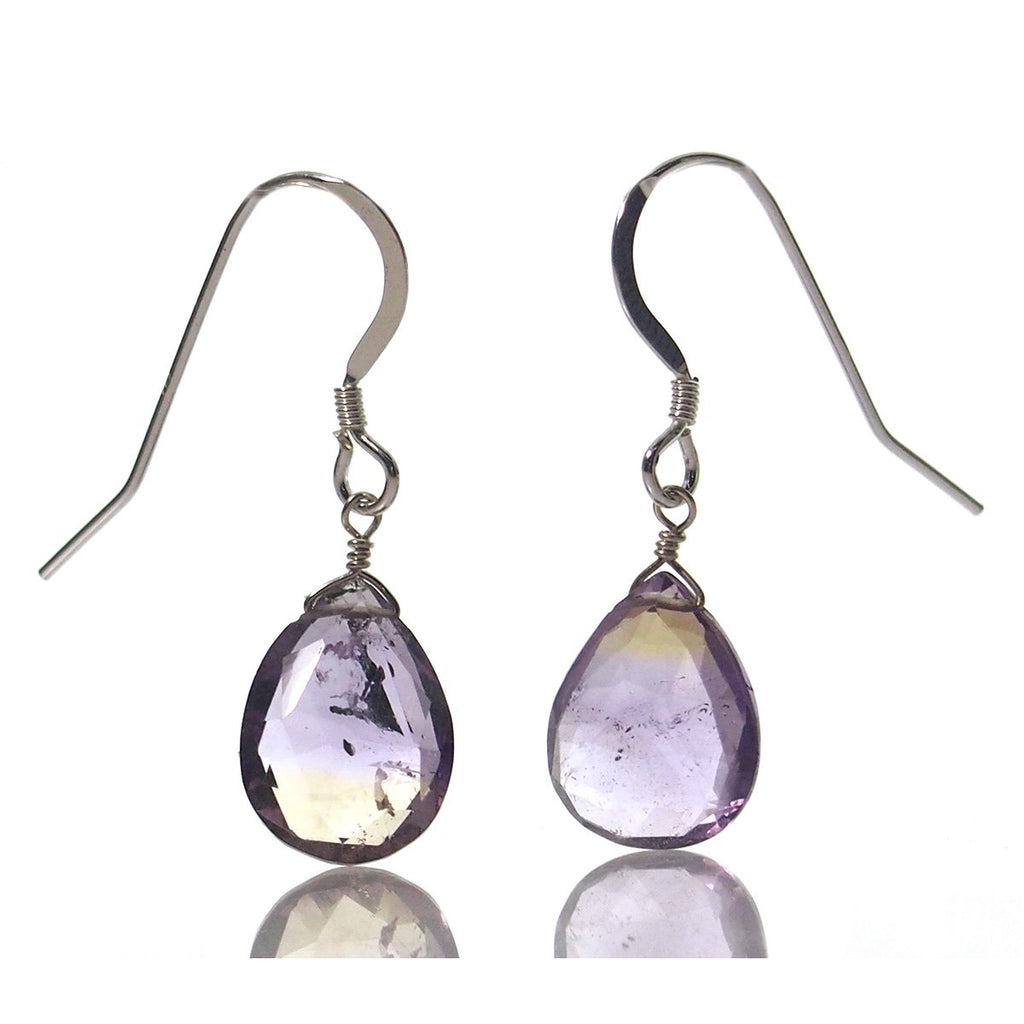 Ametrine Earrings with Sterling Silver French Earwires