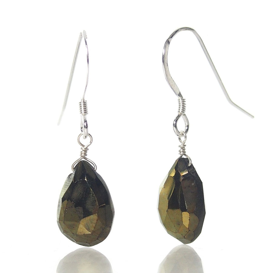 Pyrite (AB Finish) Earrings with Sterling Silver French Earwires