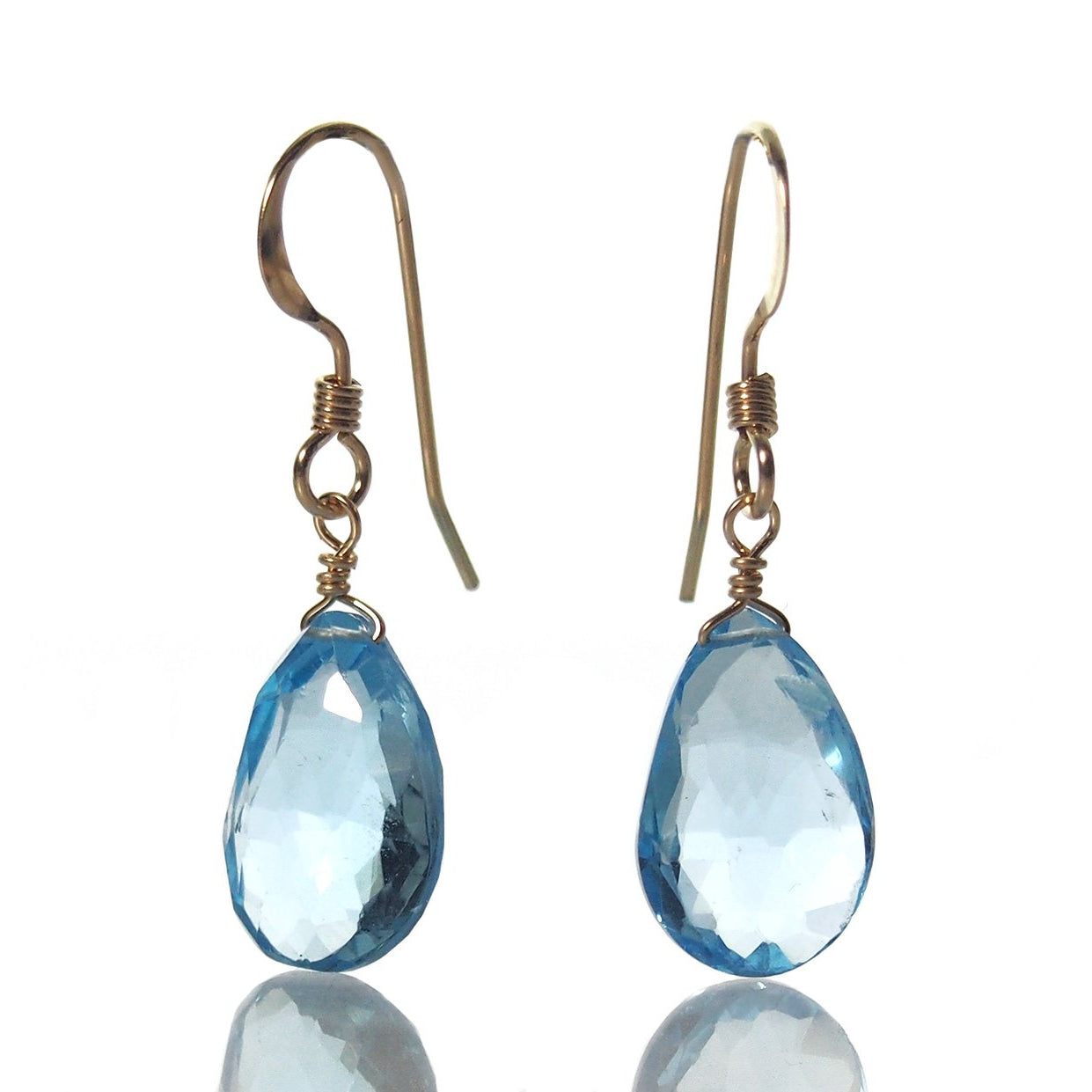 topaz gold shape jewelry in drop blue earrings fashion product fine pear erg white