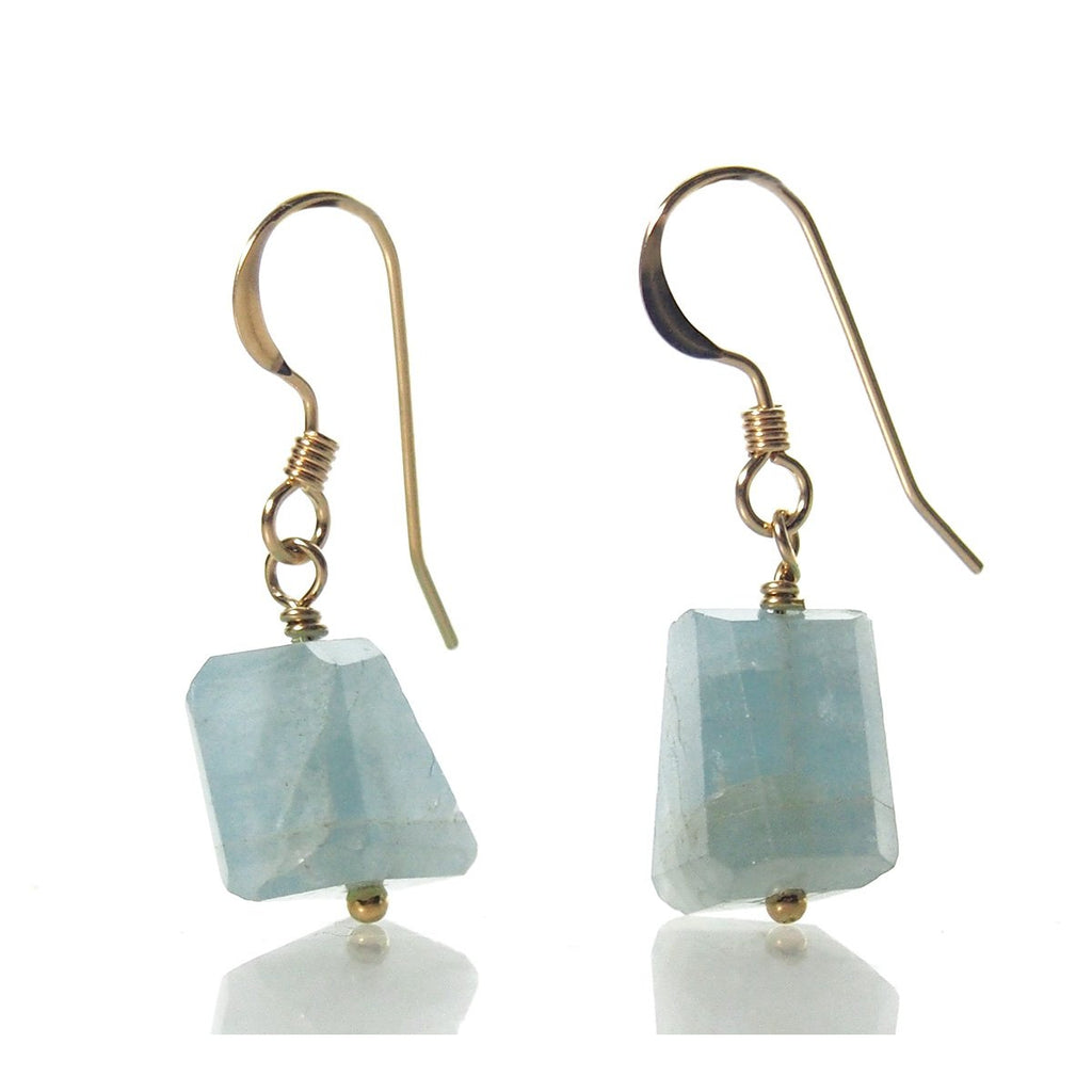 Aquamarine Earrings with Gold Filled French Earwires