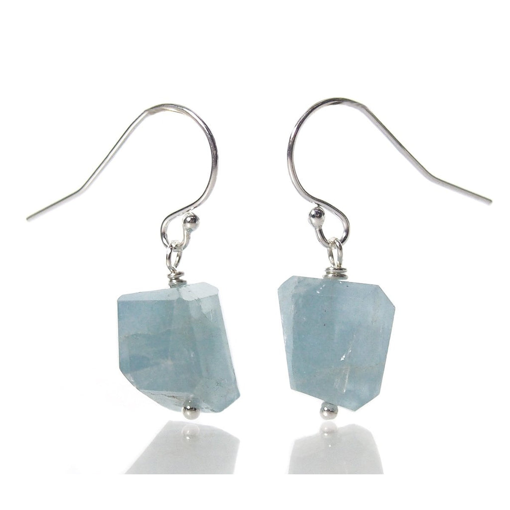Aquamarine Earrings with Sterling Silver French Earwires