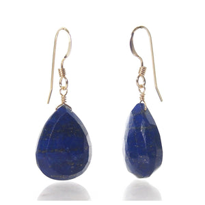 Lapis Lazuli Earrings with Gold Filled French Earwires