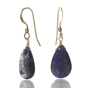 Iolite Earrings with Gold Filled French Earwires
