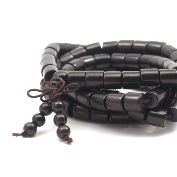 Ebony Cylinder 8mm Mala