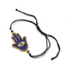 Hamsa (2) with Evil Eye Hand-Loomed Bracelet