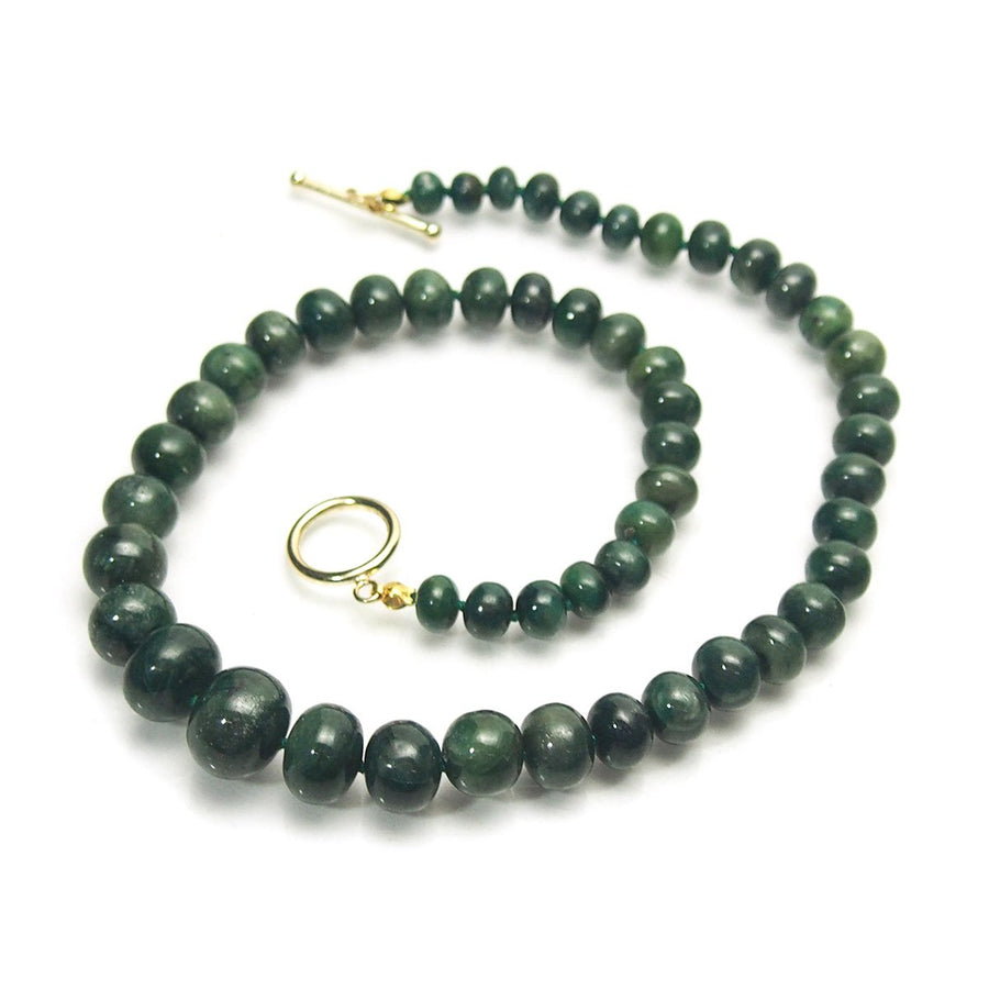 Emerald Necklace with Gold Filled Toggle Clasp