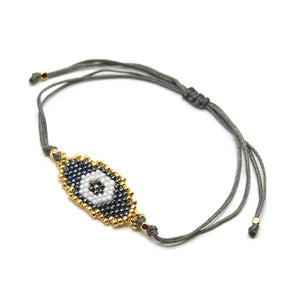 Oval Evil Eye Hand-Loomed Bracelet