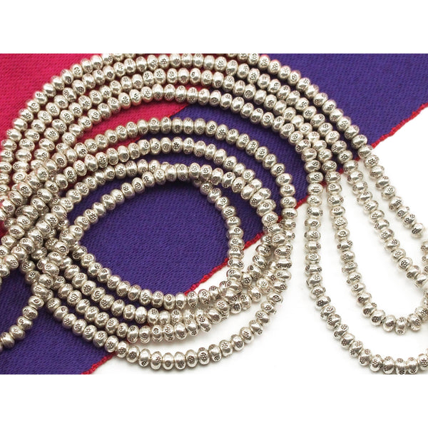 98% Pure Hill Tribe Silver 4.1mm Beads 12