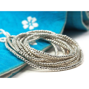98% Pure Hill Tribe Silver 2.3mm Beads 7