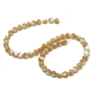 Mother of Pearl Smooth Rounds 8mm Strand