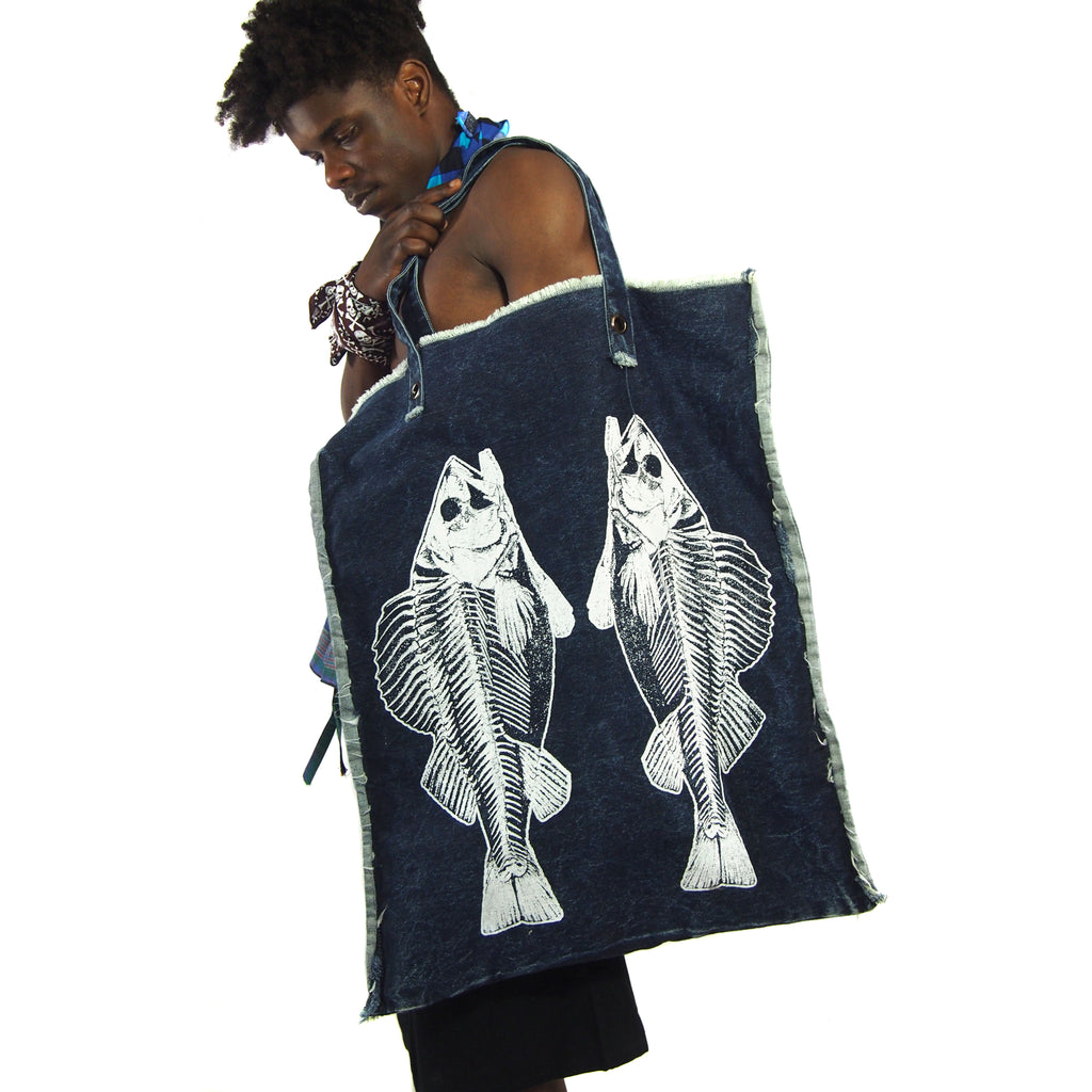 Two Fish Are Better Than One Oversize Tote Bag