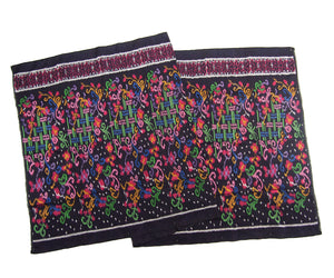 Ensemble 21: Floral Ikat Sarong from Bali, Indonesia with Laos Hilltribe Woven Scarf