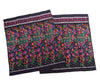 Ensemble 21: Floral Ikat Sarong from Bali, Indonesia with Laos Hilltribe Woven Scarf - Each Item Sold Separately