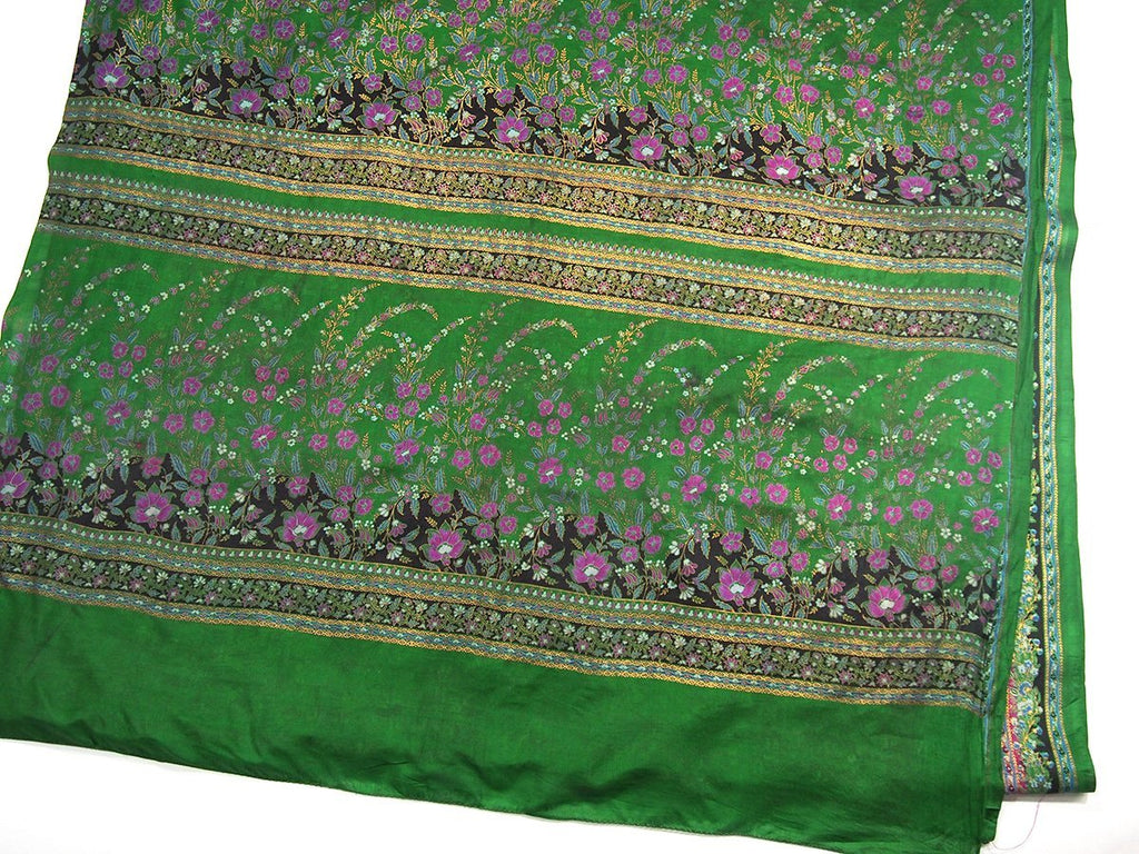 Ensemble 20: Rajasthan Vintage Heirloom Sari with Nepal Felted Wool Lotus Scarf