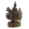 Saraswati Black Lacquer Golden Leaf Glass Mosaic Large Figure from Burma known as Thurathadi Dewi