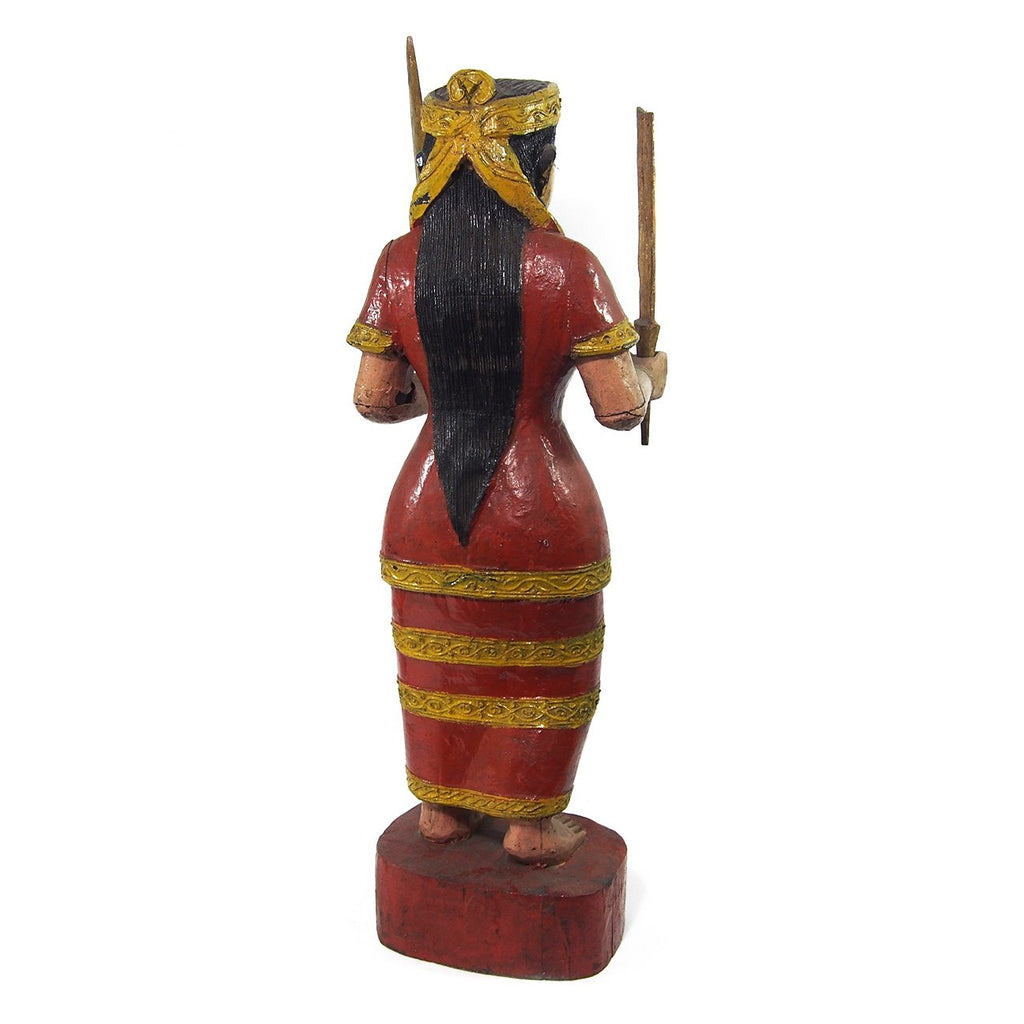 Temple Warrior Guardian Nat Female Figure XL Ca.1950