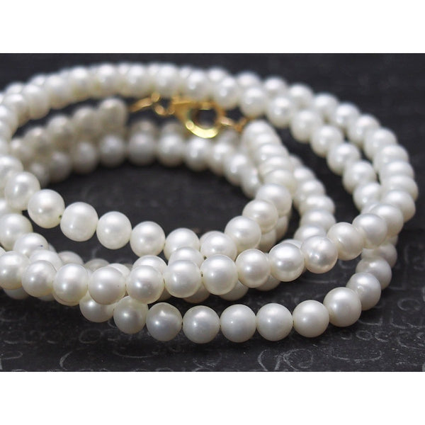 Fresh Water Pearl Necklace with Gold Filled Trigger Clasp