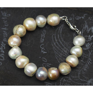 Mother of Pearl Bracelet with Sterling Silver Trigger Clasp