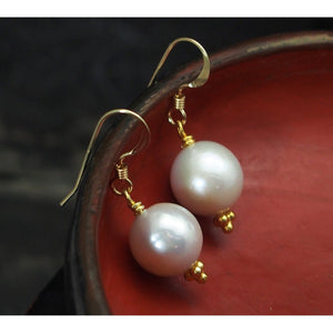 Fresh Water Pearl Earrings with Gold Filled French Ear Wire