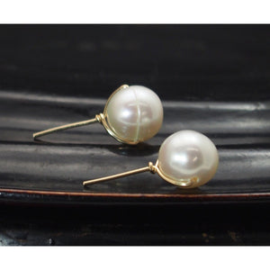 Fresh Water Pearl Post Earrings with Gold Filled Ear Wire