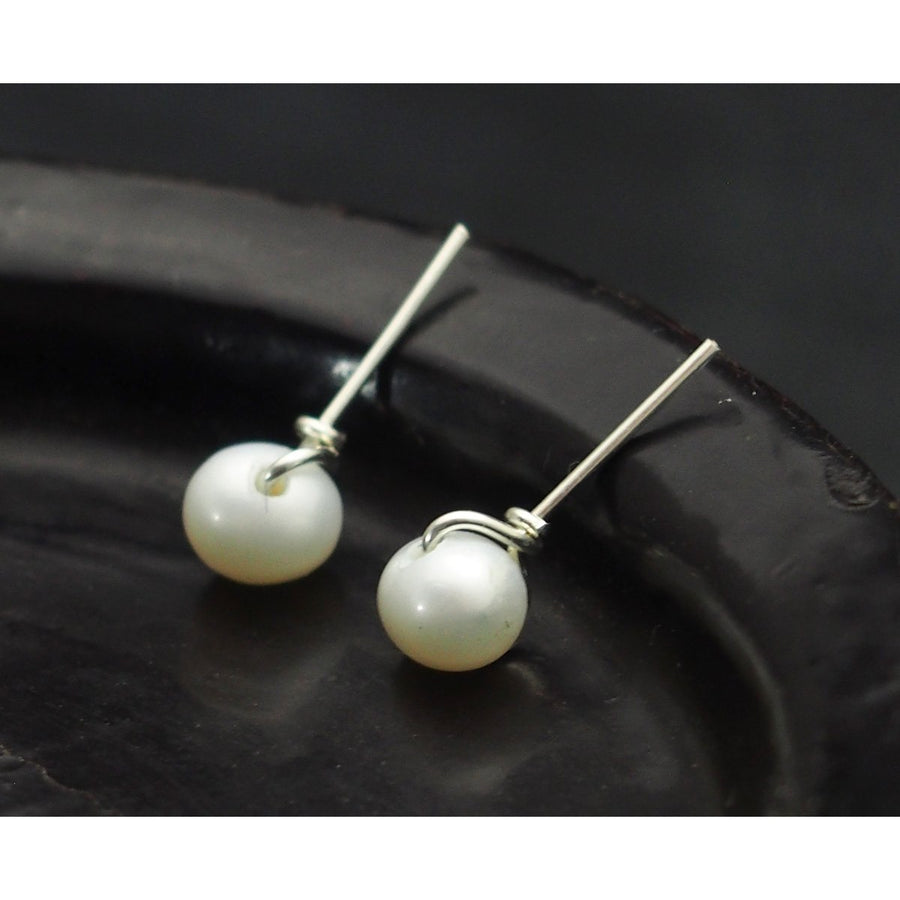 Fresh Water Pearl Post Earrings with Sterling Silver Ear Wire