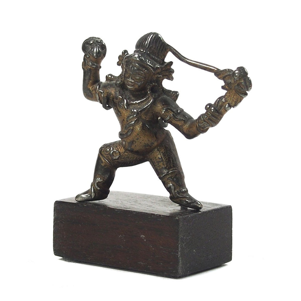 Tibetan God Figure Possibly Deity Mahakala Antique from Brian's Collection