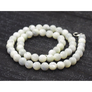 Mother of Pearl Necklace with Sterling Silver Trigger Clasp
