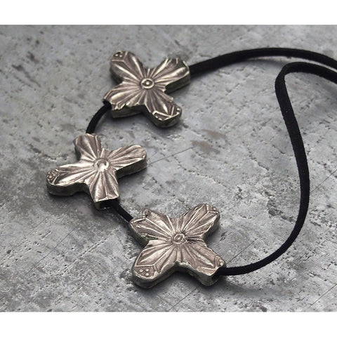 Antique Silver Star Beads