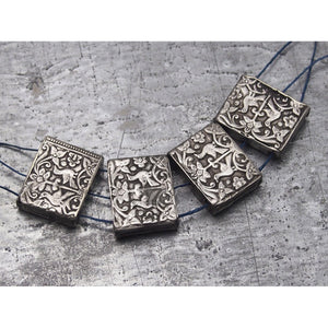 Antique Silver Bird Beads