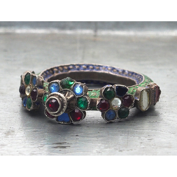 Antique Enamel/Glass Dowry Bracelet