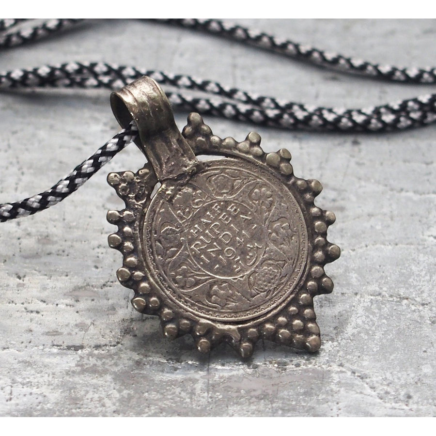 Antique King George VI Coin Pendant