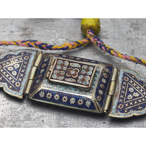 Antique Silver Enameled Bazuband (Upper Arm) Koranic Amulet Case 3