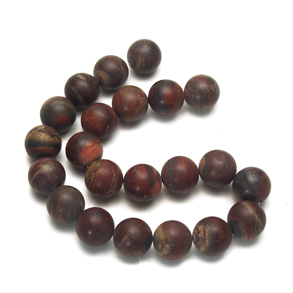 Poppy Jasper Matte Rounds 18mm