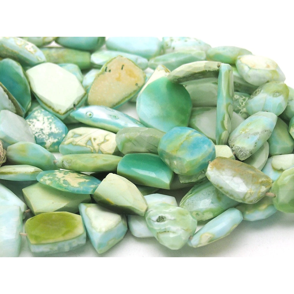 Peruvian Opal Faceted Nuggets Strand