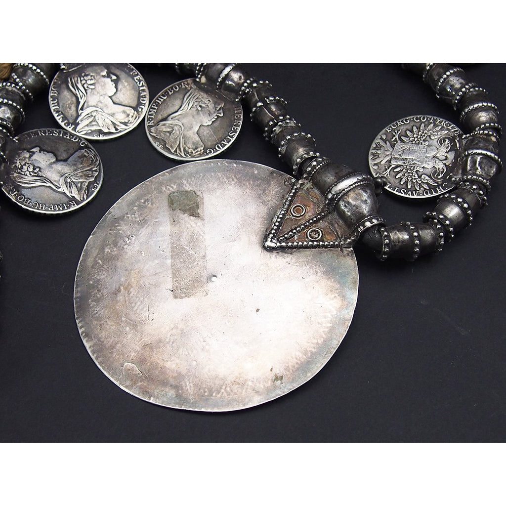 Omani Somt Fine Silver Pectoral Necklace from the Collection of Lois Sherr Dubin.