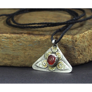 Turkmen Silver Heirloom Charm Pendant Necklace