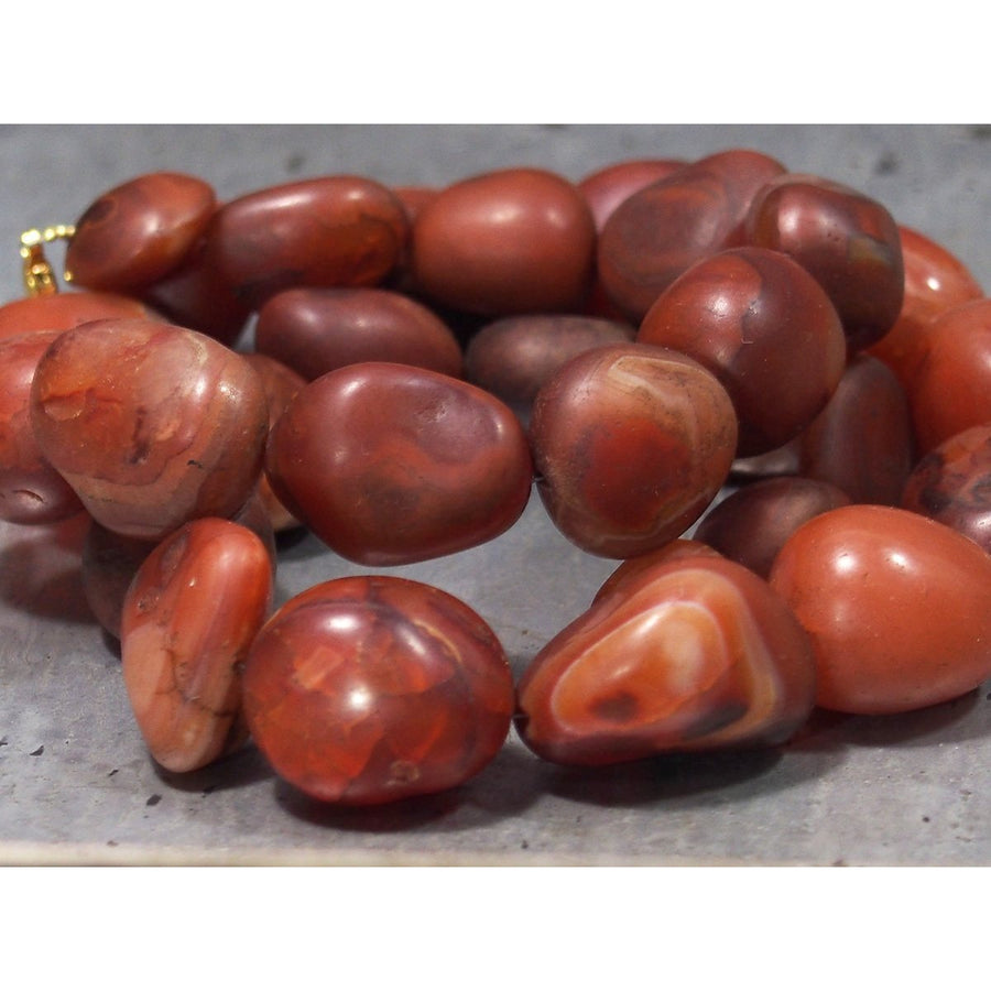 Antique Carnelian Beads