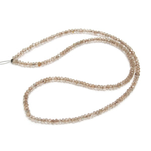 Topaz Champagne Faceted 3mm  Rondelles Strand