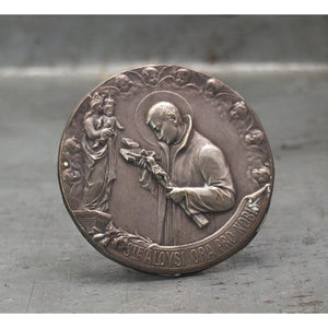 Vintage Stamped Catholic Medal, C