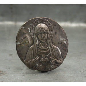 Vintage Stamped Catholic Medal, B