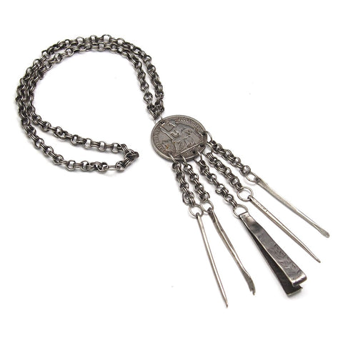 French 1922 Coin Chatelaine