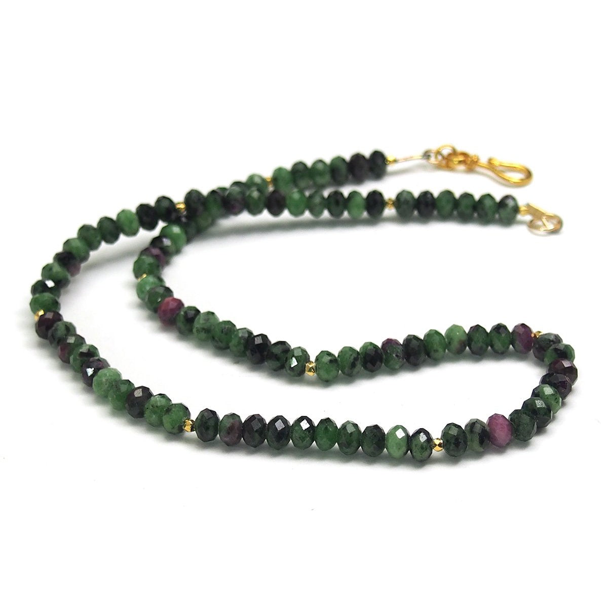 Ruby on Zoisite necklace