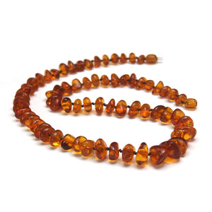 Cognac Amber Natural Nuggets Necklace/Strand