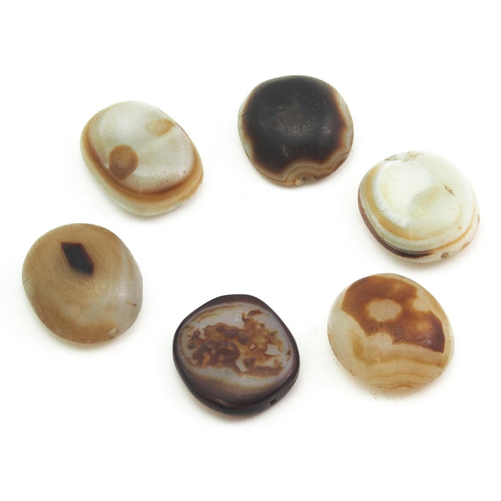 14th to 18th century Luk Mik Heirloom Suleiman Agate Dzi Beads, B