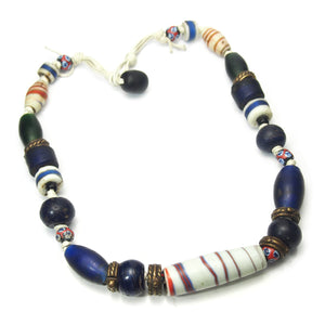 19th Century Naga Heirloom Chinese and Indian Trade Bead Necklace