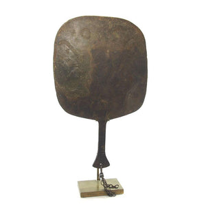 19th Century Yoruba Bronze Fan for Goddess Oshun Priestess 2