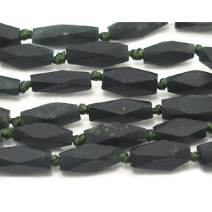 Jade (Afghan) Matte Faceted Small Lozenges Strand