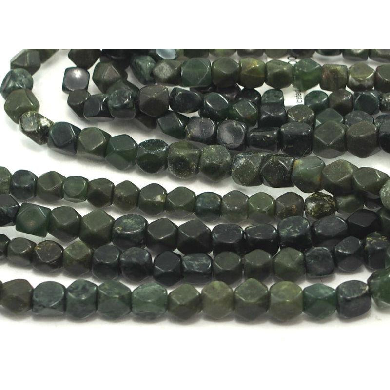 Jade (Afghan) Faceted Strand , Small (6mm-8mm)