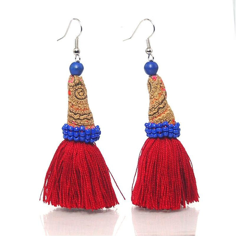 Hill Tribe Crocheted Earrings, A