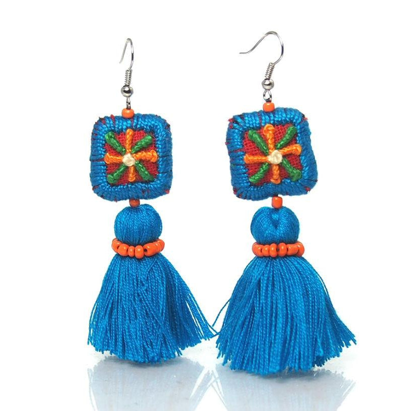 Hill Tribe Crocheted Earrings, B